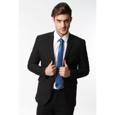Jas Super Slim Fit Black Texture