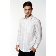 Kemeja Regular Panjang White Check Grey 986313
